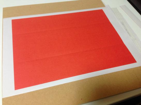 ラベル紙赤印刷
