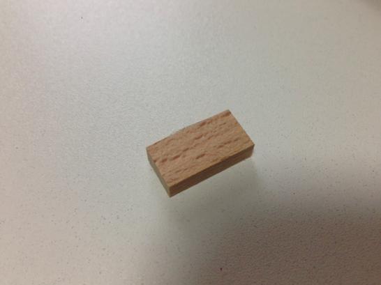 木片ブロック