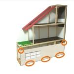 手作りリカちゃんハウスの増築計画